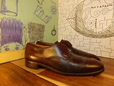 Church's Custom Grade Brown Leather Plain Toe Oxfords Men 8M Truly Vintage
