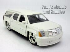 5.5 inch Cadillac Escalade ESV Custom Lowrider Scale Diecast Model - White