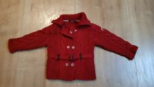 gilet manteau fille burberry 18 mois rouge