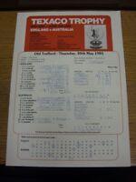 30/05/1985 Cricket Scorecard: England v Australia  [At Old Trafford] (results fi