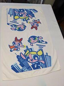 "Vintage Powerpuff Girls Bath Towel 25X38"" Very Rare"