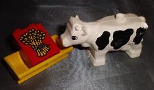 Lego Duplo Bauernhof Tiere Kuh  Kühe Trog  Motivstein Gerste aus 5649 4975 2699