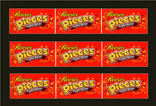9 VENDSTAR 3000 VENDING MACHINE CANDY STICKERS LABEL  Free Ship REESES PIECES