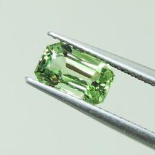 1.56ct natural Tsavolite garnet  gemstones green color octagon cut GLC certify