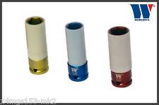 """Werkzeug Protective Alloy Wheel Impact Sockets Set 1/2"""" 17, 19, 21 mm 1080"""
