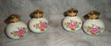 Vintage Asian Japan Porcelain Rose Rosebud Salt & Pepper Shaker Set