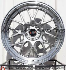 F1R F21 20x8.5F/20x10.5R 5x114.3/120 +15/20 Hyper Black Wheels (Set of 4)