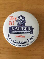 "Vintage Pinback Guinness Kaliber Non-Alcoholic Brew Button 3"" Pin"