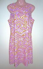 NWT $178 Jude Connally Pink & Orange Geo Maze Dress XL