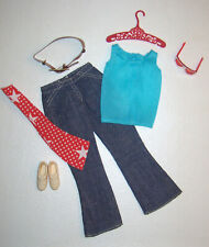 Vintage Francie READY! SET! GO! #3365 Near Complete Outfit Best Buy Jeans 1972