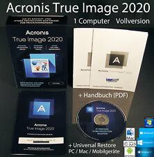 Acronis True Image 2020 Vollversion 1 PC/Mac Box, CD + Universal Restore OVP NEU