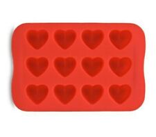 Heart Ice Cube Tray Mould - Ice or Chocolate Mold - Soft Silicon - 12 Cubes