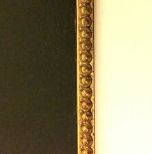 """Custom cut 1/4"""" wide Gold Bead Beaded Fillet w/ Black tone 4 Mat Picture Frame"""