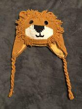 New Ecc Unisex Kids Lion Winter Beanie Hat Fleece Lined With Ear Flaps