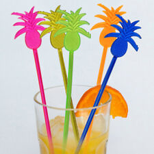 10PC Pineapple Cocktail Picks Stirrers Swizzle Stick Party Drink Mixer Bar Tool