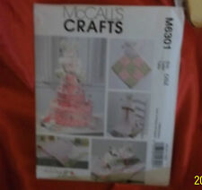 McCall's Crafts PATTERN. M6301 29 pcs. Diaper Cake/Blanket/Burp cloth/New