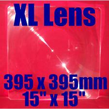 """Large RIGIDE Acrylique Fresnel lentille SOLAIRE Loupe pour Four, Cuisinière 15""""x15"""" 395x395mm"""
