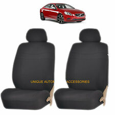 BLACK ELEGANCE AIRBAG COMPATIBLE LOWBACK SEAT COVER SET for VOLVO XC70 XC90