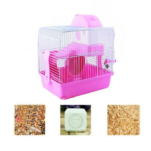 2 Tiers Large Pet Cages Hutch Large Hamster Cage Gerbil Mouse Mice Storey Level
