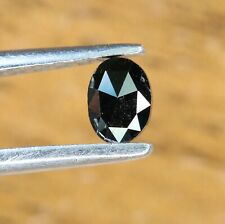 Black Diamond 0.16 Ct Oval Diamond Rose Cut Diamond For Black Oval Diamond Ring