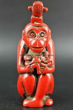 Superb Chinese Hand-carved lifelike monkey lucky Snuff bottle