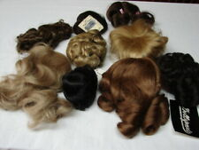 VINTAGE NEW/OLD STOCK LOT 9 DOLL WIGS different sizes, styles & colors