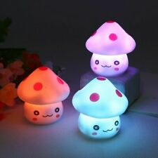 Colorful Mushroom LED Night Light Bedside Lamp For Baby Kids Child Bedroom Gift