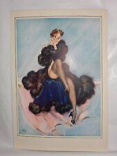 Boudoir Salon 1940s 50s  Decor Vintage print from photographers studio  nude ..6