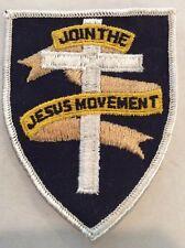 Vintage Religious Patch NOS Join The Jesus Movement Church Hot Rod 70s Biker