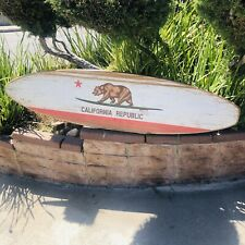 California Bear Wood Surfboard Brewing Beer Bar Pub Sign Mirror