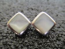 Sterling Silver, Mother of Pearl Post Earrings