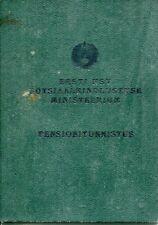 Soviet Estonia Estonian SSR 1965 Ministry Social Security Pension Card ID Doc