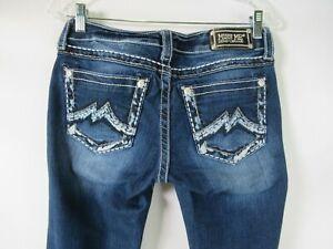 H0889 Women Miss Me Skinny Signature Rise Denim Jeans Size 28