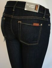 Seven 7 For All Mankind THE MODERN STRAIGHT Jean Woman 26 INK RINSE DARK BLUE