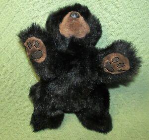 "TY BABY PAWS 12"" BLACK BEAR 1996 PLUSH RETIRED STUFFED ANIMAL LAYING VINTAGE TOY"