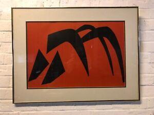 """Vintage """"Stabile VI"""" Framed Original Lithograph by Alexander Calder"""