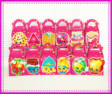 SHOPKINS PARTY FAVOUR BOXES THEMED KIDS BIRTHDAY LOLLY BAGS SUPPLIES DECORATIONS