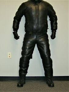 CKX Leather Snow Biker Suit - Leather Jacket and Leather Bib Pants