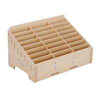 24 Cells Multifunctional Wooden Storage Box Mobile Phone Repair Tool Organ bnm