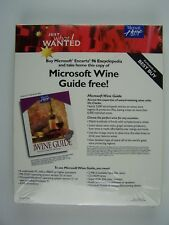 Microsoft Home Wine Guide Software New Sealed