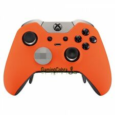 Game Cover Front Shell Faceplate for Xbox One Elite Controller Soft Touch Orange