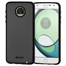 AMZER Pudding Matte TPU Case Skin Back Cover For Motorola Moto Z Play - Black