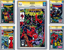 SPIDER-MAN #8-9-10-11-12 CGC-SS 9.6 *ALL 5 SIGNED BY ARTIST TODD MCFARLANE* 1991