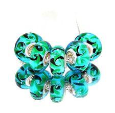5 High Glas Bead für Armband - Kette* Großloch Perlen* Beads * Modularmband 0001
