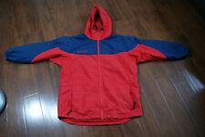bd702d6c66b Vintage COLUMBIA Womens Windbreaker size S Hooded Full Zip Red Navy Blue
