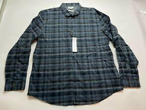 Calvin Klein Men's Long Sleeve Lightweight Cotton Button Down Shirt NWT Size XXL