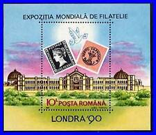 ROMANIA 1990 penny black LONDON STAMP SHOW  S/S MNH  STAMP on STAMP