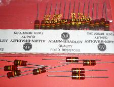 Allen Bradley Carbon Comp Resistors 22k 2W 5% Audio Tube Amp RC42GF223J Mil NOS