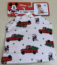 Mickey Mouse Flannel Holiday Dog Pajamas - White Size XS One Piece
