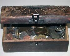 SCHATZTRUHE MIT 1 kg Münzen aus aller Welt